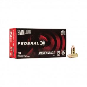 AMERICAN EAGLE AMMUNITION - 9MM LUGER - FMJ - 124GR - 50RD