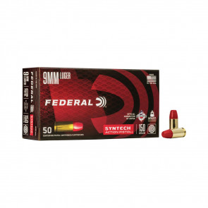 SYNTHECH ACTION PISTOL AMMUNITION - 9MM LUGER, SYNTECH JACKET FN, 150 GRAIN