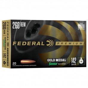 GOLD MEDAL® AMMUNITION - .260 REMINGTON - SIERRA® MATCHKING BTHP - 142 GRAIN