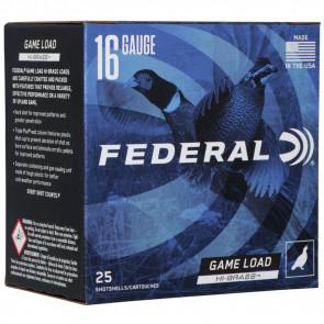 "GAME-SHOK™ UPLAND - HI-BRASS SHOTSHELLS - 16 GAUGE - 2 3/4"" - 1 1/8 OUNCE - #6 SHOT"