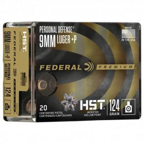 PREM 9MM LUG P HST JHP 124GR 20/BX