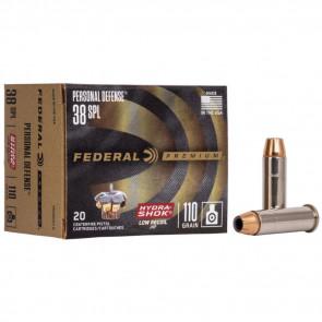 PREMIUM® PERSONAL DEFENSE® (LR) AMMUNITION - .38 SPECIAL - HYDRA-SHOK® JACKETED HOLLOW POINT - 110 GRAIN