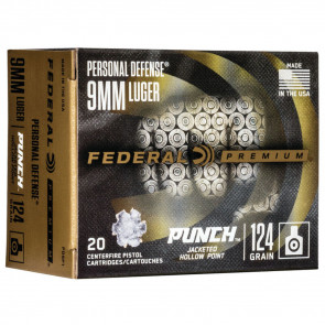 FEDERAL PERSONAL DEFENSE PUNCH 9MM LUGER - 20/BOX