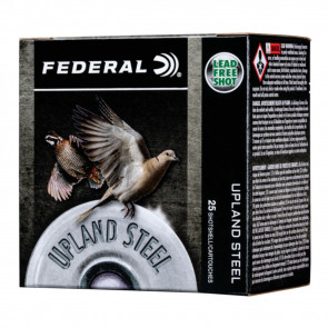 "UPLAND STEEL SHOTSHELLS - 20 GAUGE, 2 3/4"", 3/4 OZ, 7.5 SHOT, 25/BX"