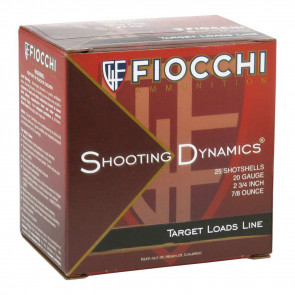 "20 GAUGE SHOTSHELLS 2.75"" .875OZ.  #7.5 SHOT - 25 ROUNDS"