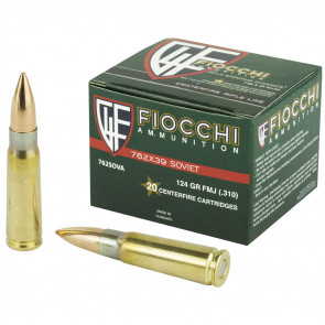 SHOOTING DYNAMIC RIFLE AMMUNITION, 7.62X39MM, 123 GR, FMJ