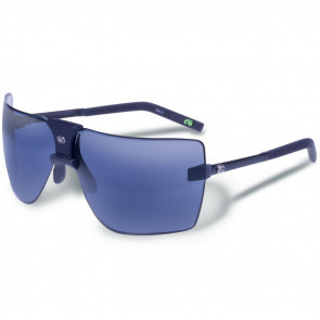 CLASSIC RUBBERIZED BLACK FRAME - SMOKE/BLUE LENS