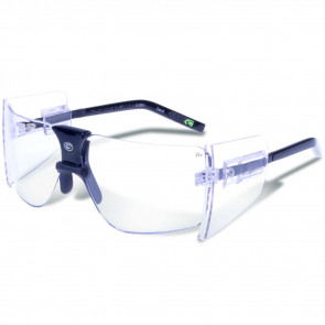 85S CLEAR LENS BLACK FRAME