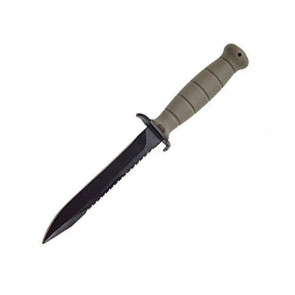 "FIELD KNIFE, FIXED BLADE, 6.5"", FLAT DARK EARTH, CLIP POINT"