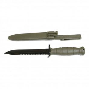 "FIELD KNIFE, FIXED BLADE, 6.5"", OLIVE DRAB, CLIP POINT"