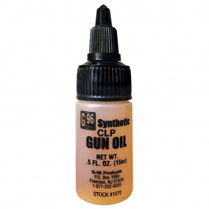 G96 SYNTHETIC CLP GUN OIL - U.S. ARMY APPROVED - 0.5 OZ. PLASTIC BOTTLE