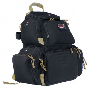 FREESTANDING HANDGUNNER BACKPACK, BLACK & TAN