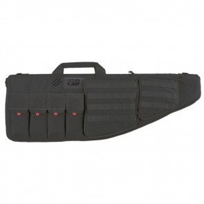 "TACTICAL AR CASE WITH EXTERNAL HANDGUN CASE, 42"", SOFT, BLACK"