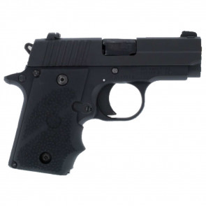 RUBBER WRAPAROUND GRIP WITH FINGER GROOVES - SIG SAUER P238 - BLACK
