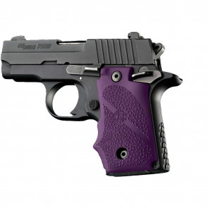 RUBBER WRAPAROUND GRIP WITH FINGER GROOVES - SIG SAUER P238 - PURPLE