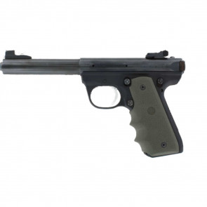 RUBBER WRAPAROUND GRIP WITH FINGER GROOVES - OD GREEN