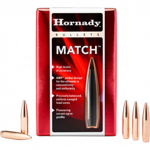 MATCH BULLETS - 22 CALIBER, .224, 52 GRAIN, BTHP, 100/BX