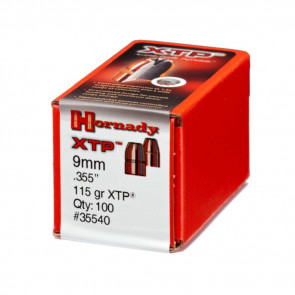 "XTP EXTREME TERMINAL PERFORMANCE BULLET - 9MM .355"" HP, 115 GR, 100/BX"