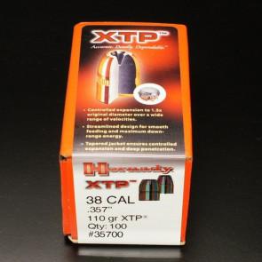 "XTP EXTREME TERMINAL PERFORMANCE BULLETS - 38 CAL. .357"" HP, 110 GR, 100/BX"