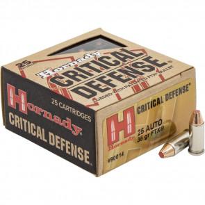 CRITICAL DEFENSE® AMMUNITION - 25 AUTOMATIC, 35 GRAIN, 25/BX