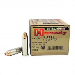 CRITICAL DEFENSE AMMUNITION - 38 SPECIAL, 110 GRAIN, FTX