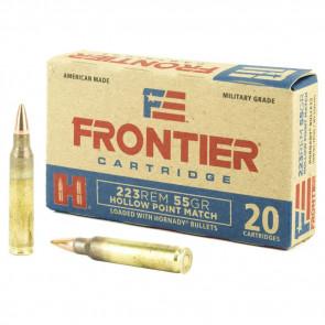 FRONTIER AMMUNITION - 223 REMINGTON, HP MATCH, 55 GR, 20/BX