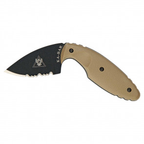 "ORIGINAL TDI 2-5/16"" HALF-SERRATED KNIFE, COYOTE BROWN"