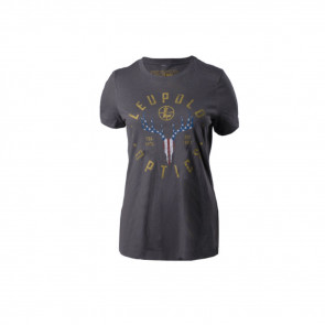 W S AMERICAN WHITETAIL TEE GREY M