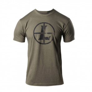 DISTRESSED RETICLE TEE - MILITARY GREEN, LARGE