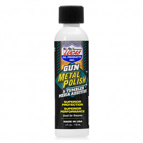LUCAS GUN METAL POLISH - 4 OZ. LIQUID BOTTLE