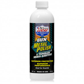 LUCAS GUN METAL POLISH - 16 OZ. LIQUID BOTTLE