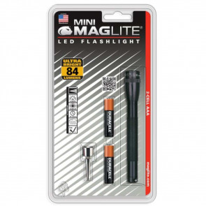 MINI MAGLITE LED 2AAA BLISTER, BLACK