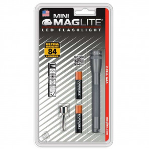 MINI MAGLITE PRO LED 2 AAA FLASHLIGHT - BLISTER PACK - GRAY