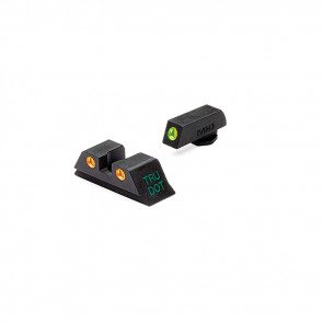 TRU-DOT SIGHT SET, GLOCK 10MM/45ACP, GREEN FRONT AND ORANGE REAR DOTS