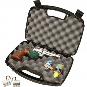 SINGLE LATCH HANDGUN CASE - BLACK