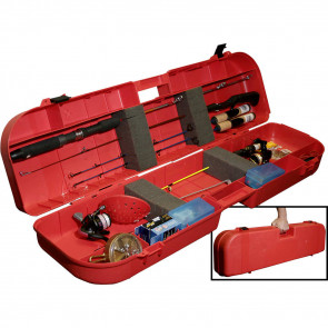 ICE FISHING ROD BOX - SAFETY RED