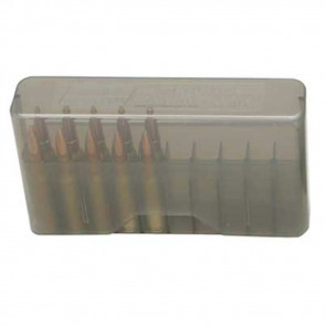 J-20 SERIES SLIP-TOP RIFLE AMMO BOX - 20 ROUND - CLEAR SMOKE