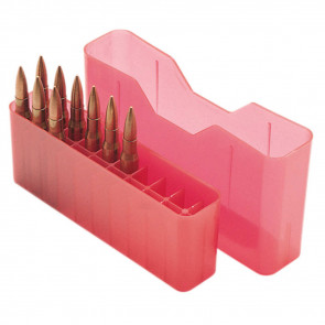 J-20 SERIES SMALL RIFLE AMMO BOX - 20 ROUND - CLEAR RED