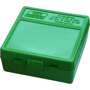 P-100 SERIES MEDIUM HANDGUN AMMO BOX - 100 ROUND - GREEN