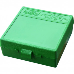 P-100 SERIES X-LARGE HANDGUN AMMO BOX - 100 ROUND - GREEN