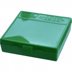 P-100 SERIES LARGE HANDGUN AMMO BOX - 100 ROUND - GREEN