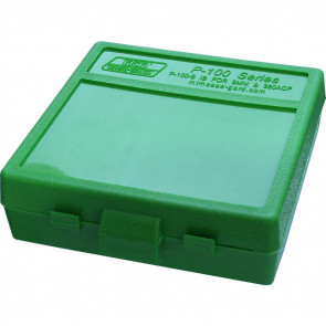 P-100 SERIES SMALL HANDGUN AMMO BOX - 100 ROUND - GREEN