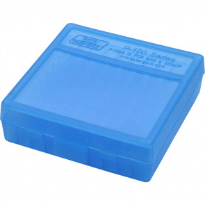 P-100 SERIES SMALL HANDGUN AMMO BOX - 100 ROUND - CLEAR BLUE