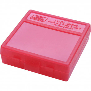 P-100 SERIES SMALL HANDGUN AMMO BOX - 100 ROUND - CLEAR RED