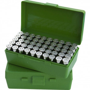 P-50 SERIES SMALL HANDGUN AMMO BOX - 50 ROUND - GREEN