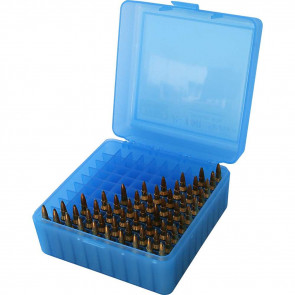 RM-100 SERIES MEDIUM RIFLE AMMO BOX - 100 ROUND - CLEAR BLUE