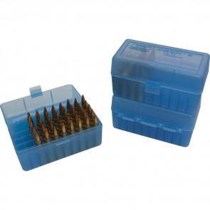 R-50 SERIES MEDIUM RIFLE AMMO BOX - 50 ROUND - CLEAR BLUE