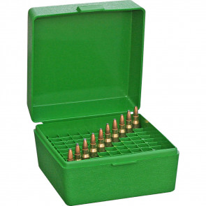 RS-100 SERIES SMALL RIFLE AMMO BOX - 100 ROUND - GREEN