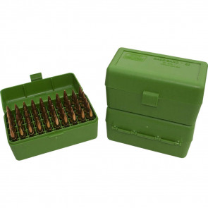 R-50 SERIES X-SMALL RIFLE AMMO BOX - 50 ROUND - GREEN