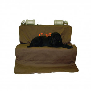 TWO BARREL DOUBLE SEAT COVER, BROWN, X-LARGE